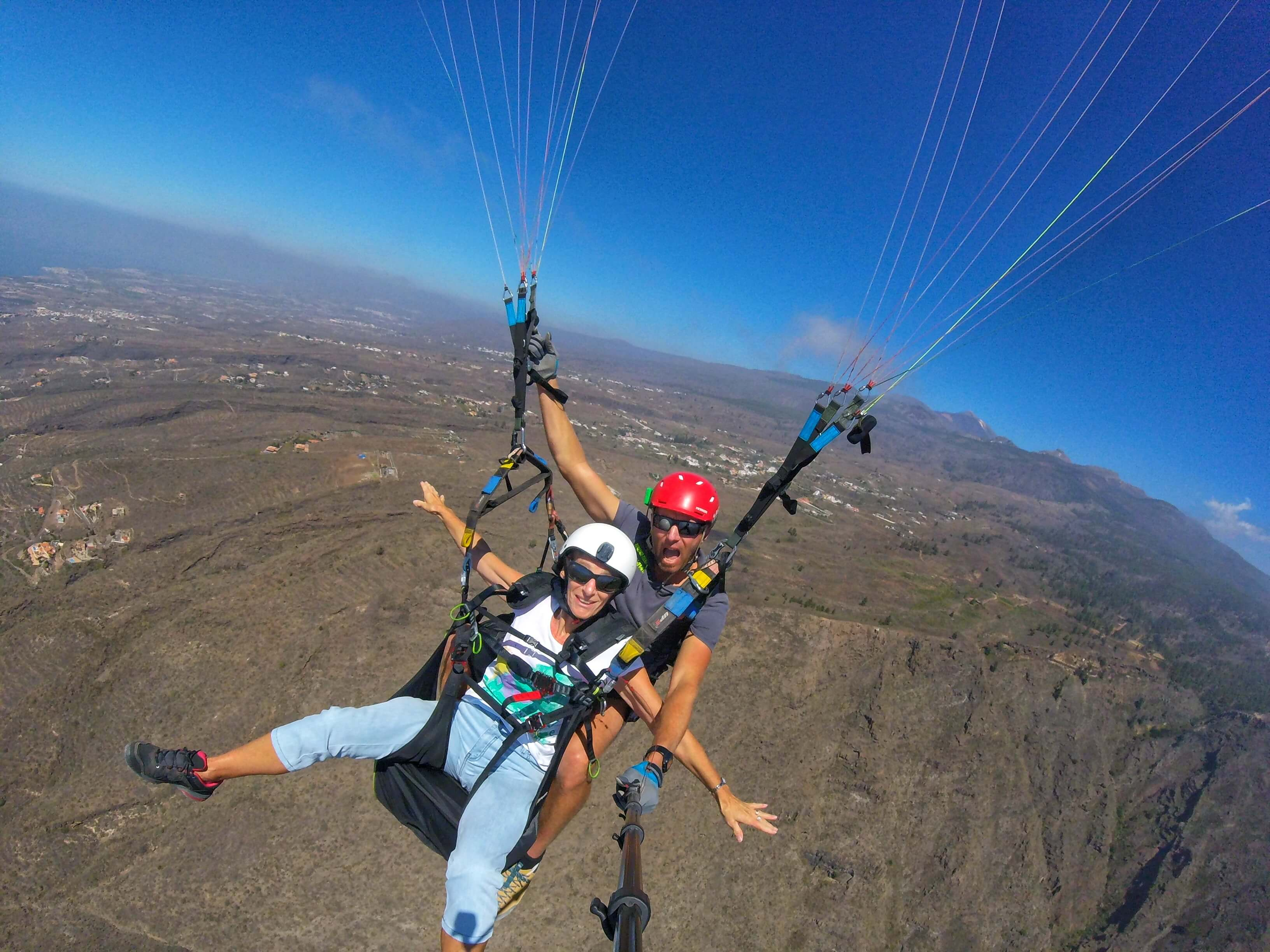 paragliding tandem teide over ténerife